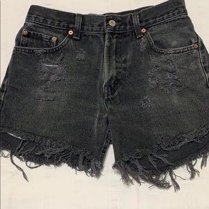 Levi's black jeans shorts